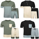 Men Casual Tracksuit Short Sleeve T-Shirts and Shorts Running Athletic Sport Set
