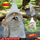 Smoking Wizard Big Tongue Gnome Naughty Garden Gnome For Lawn Ornament Au New