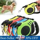 Retractable Dog Nylon Lead Extending Leash - Puppy Walking Running Leads 10/16FT