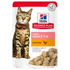 Hills Science Plan Light Adult Cat Food Pouches (12 x 85G)