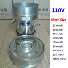 110V Stainless Steel Electric Vibrating Sieve Machine for Powder Particles NEW