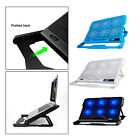 Dual USB Laptop Cooling Pad Cooling Fan Stand Portable Ultra Slim LED Screen