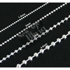 """Stainless Steel Ball Chain 16""""-30"""" Dog Tag Bead Necklace 1.5/2/3/4.5mm"""