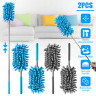 2PCS Telescopic Microfiber Duster Extendable Cleaning Dust Home Office Car Tool