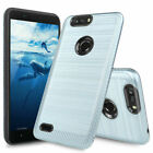 For ZTE Blade Z MAX / ZTE Sequoia Brushed Armor Rubber Phone Case Cover