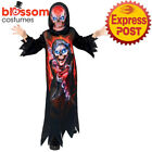 Ck2196 Boys Gaming Reaper Zombie Computer Game Costume Halloween Jumpsuit Mask