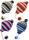 GIRLS FUNKY MULTI COLOUR PERUVIAN INCA TASSLES HAT NEW