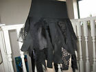 New Black Fairy Tatty Lace velvet webs Pixie Skirt Punk Gothic Goth biker party