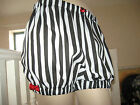 Goth,Lolita Black,White,Red striped Sissy Shorts Bloomers,Knickers,Pantalooms