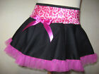 NEW Girls Black,Pink velvet Frilly Tutu Skirt,Hippy