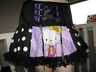 NEW COOL Black,Purple Lace Hello Kitty Corset Tutu Skirt Lolita,Gift,Party,dance