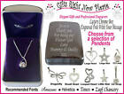 Engraved Chrome Box + Silver Necklace Bridesmaid Gift