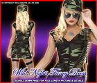 SEXY LADIES FEVER COMBAT GIRL ARMY FANCY DRESS UNIFORM