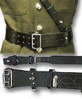 SAM BROWNE LEATHER BELT & CROSS STRAP, BROWN OR BLACK