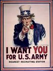 UNCLE SAM POSTER I Want You For US Army RARE VINTAGE