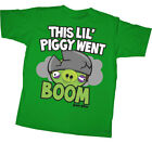 T-Shirt Tee ANGRY BIRDS NEW Piggy Boom (YOUTH Green KID