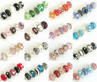 Mix of 5 Fabulous GLASS Charm Beads Selection of 20 + colours FOR Bracelets