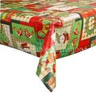 CHRISTMAS VINYL WIPE CLEAN TABLECLOTH OILCLOTH - 6 XMAS DESIGNS TO CHOOSE FROM