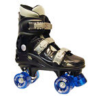 VENTRONIC CALIFORNIA PRO QUAD ROLLER SKATES BLACK UNISEX KIDS LADIES BOOTS UK