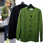 g38 Celebrity style Vintage Scoop neck Button up soft sweater cardigan