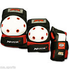 NEW X-F SKATES PROTECTIVE SPORTS ELBOW WRIST KNEE SUPPORT GUARDS BLACK RED PADS