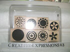 Stampin' Up 2006 Big Pieces Set Of 8 Excellent Condition
