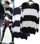 CELEBRITY style SOFT SLOUCHY STRIPE knit pullover tunic