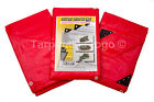 RED HEAVY DUTY PARTY CANOPY COVER TARP WATERPROOF TARPAULIN MARKET STALL