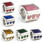 Bingo Heart Silver European Spacer Charm Bead For Bracelet Necklace