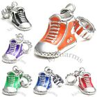 Sneaker Boot Shoe Silver Dangle European Spacer Charm Bead For Bracelet Necklace