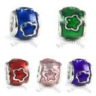 Wholesale Lot 10pcs Flower Silver European Spacer Charm Beads For Bracelet