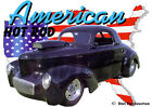 1941 Black Willys Blown Coupe Custom Hot Rod USA T-Shirt 41, Muscle Car Tee's
