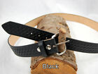 "Barsony Heavy Duty Genuine Black Leather Basket Weave Belt 1.5"" Size 57-58"