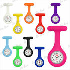 Brand New Silicone Round Doctor Nurses Brooch Tunic Fob Watch FASHION 10 Colours