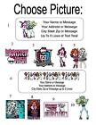 30 Monster High Personalized Address Labels