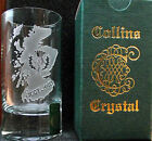 GL's: Scottish Collins Crystal Clan Shotglasses L to MacL