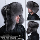 Siberian Full Fur USHANKA hat Silver/Grey/White/Black/Brown Ranched Fox ARKTIKA