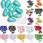 Wholesale Acrylic Plastic 3D Miracle Teardrop Beads Big & Small Size 18 Colours