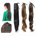 """Wrap Round Clip In Pony Tail Hair Extension New Style 22"""" 20"""" 18"""" Hairpiece"""