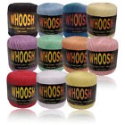 Whoosh Crochet Cotton Ball Yarn 400 yards Knitting Lace Pink Red Various Colours