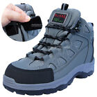 Mens K2ASF Safety Work Boots Steel Toe Cap Zippers Gray color Made in Korea