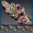 ADD'L Item FREE SHIPPING antiqued crystal rhinestone butterfly hair clamp clip