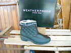 Weatherproof BLACK Quilted Zip Front Grace Ankle Boot NEW