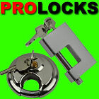 HEAVY DUTY 70MM ROUND CIRCULAR DISC / 90MM SQUARE SHUTTER PADLOCK PAD LOCK STEEL