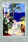 Algeria Tunisia Morocco Horse Arab World Travel Vintage Poster Repro FREE SHIP
