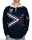 Cotton Rugby Shirt Saltire Red Lion Full Sleeve, All Sizes!