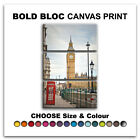 London Big Ben CITY  Canvas Art Print Box Framed Picture Wall Hanging BBD