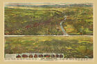 Los Angeles 1894 California Sierra Map Bird Eye View Poster Repro FREE S/H