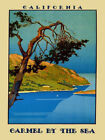 Carmel California Beach Travel  Vintage Poster Repro FREE S/H Shipped rolled up