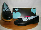 Miss Rhino Back to School older girls slipon shoe Black Leather F or G fit MARIA